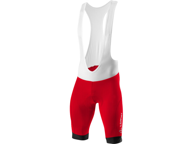 Löffler Hotbond Bike Bib Pants Men red